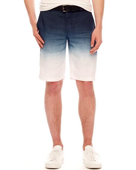 Ombre Linen Shorts