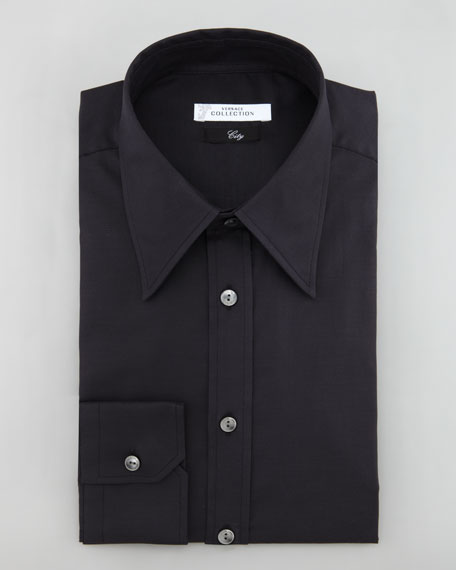 City Fit Dress Shirt, Black