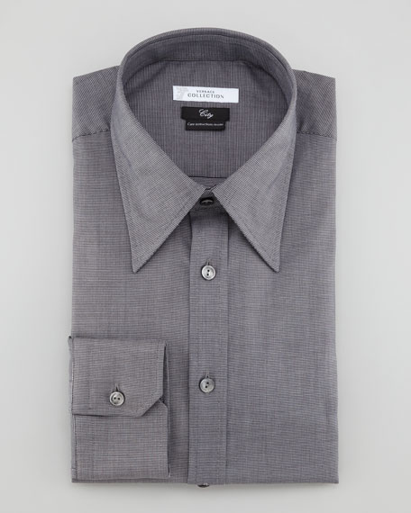 Basic Long-Sleeve Shirt, Gray