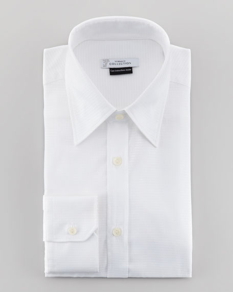Diamond-Pattern Dress Shirt