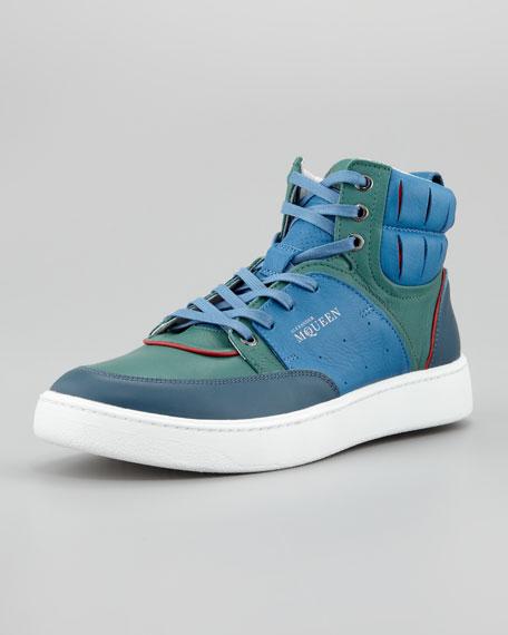 Summer Joust Hi-Top Sneaker, Blue Multi