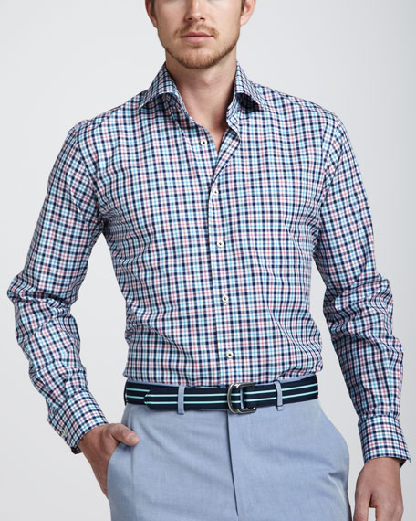 Cannes Plaid Sport Shirt, Multicolor