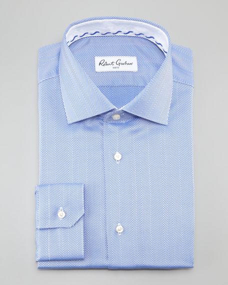 Lambert Herringbone Dress Shirt