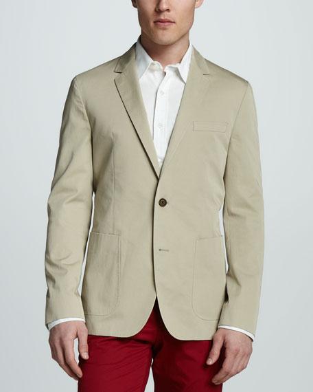 Cotton Blazer, Khaki