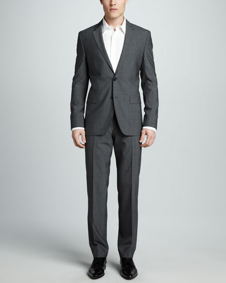 Graph-Check Two-Button Suit