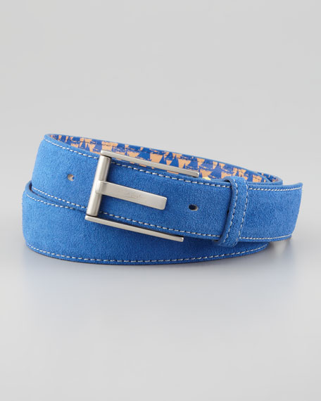 Riverside Suede Belt, Blue