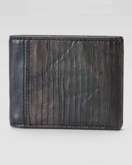 James Veg Cut Wallet, Dark Brown
