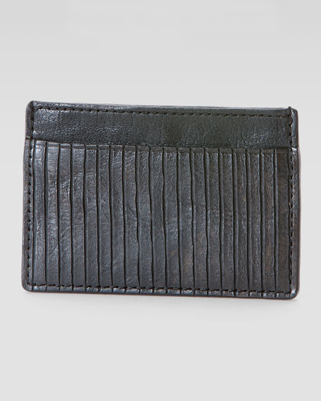 James Veg Cut Card Case, Black
