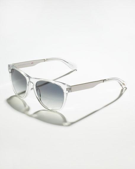 Braverman Photochromic Metal-Arm Clear Sunglasses, Crystal