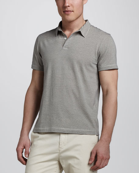 Bron Striped Polo, Blue
