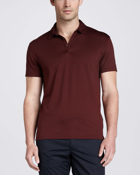 Short-Sleeve Jersey Polo, Red