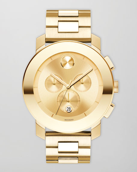 43.5mm Bold Chronograph Watch, Golden