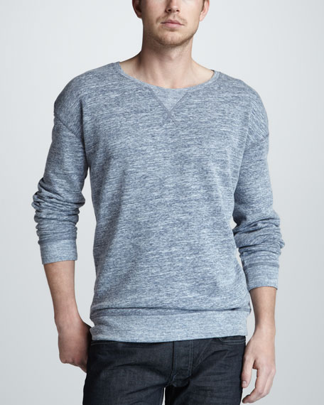Long-Sleeve Melange Sweater