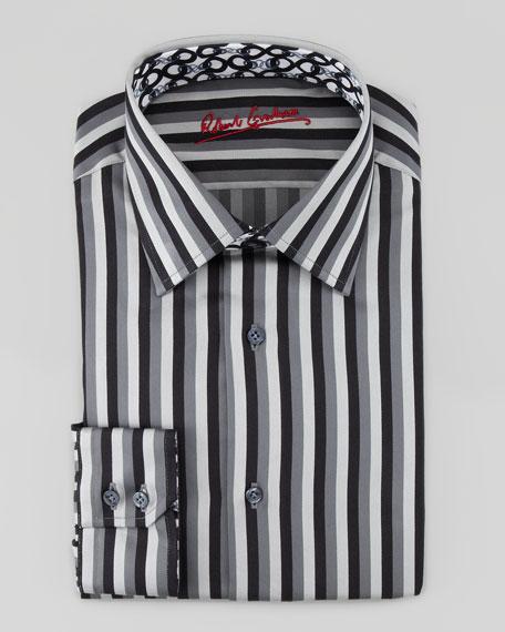 Chain Dress Shirt, Black