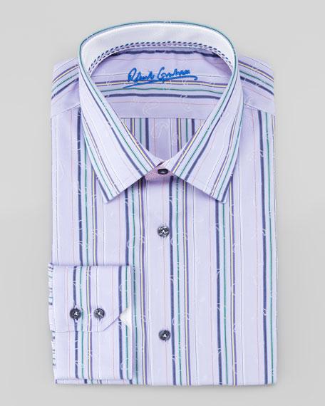 robert graham jacquard striped shirt
