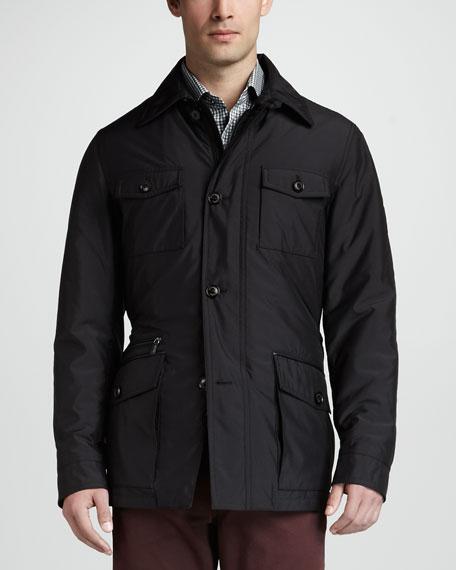 Wool/Cashmere-Lined Safari Jacket