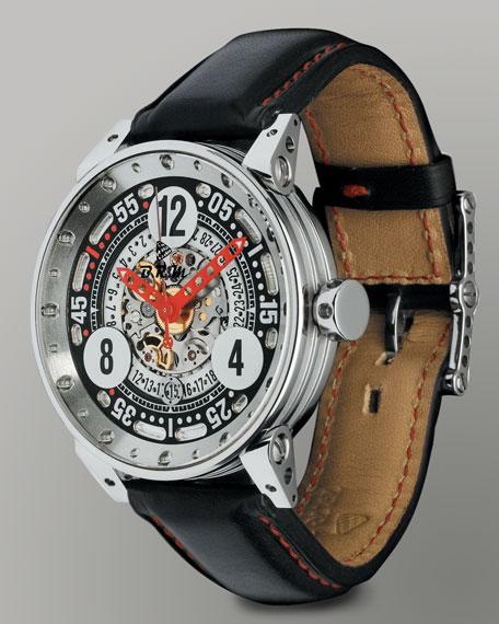 V6 44 R Racing Skeleton Watch