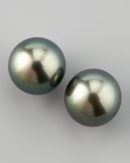 Tahitian Pearl Post Earrings