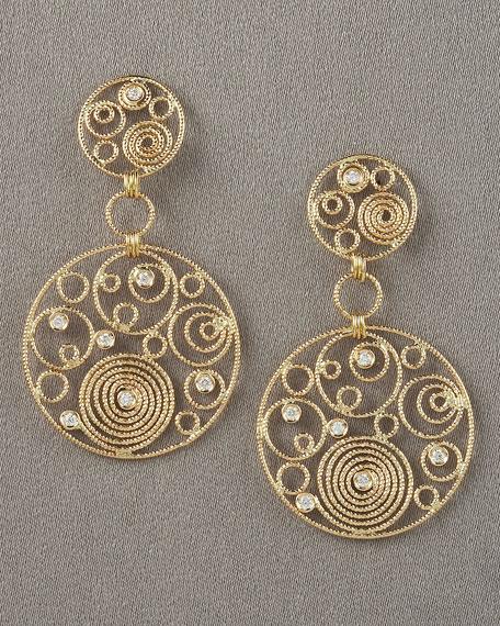 Mauresque Two-Drop Earrings