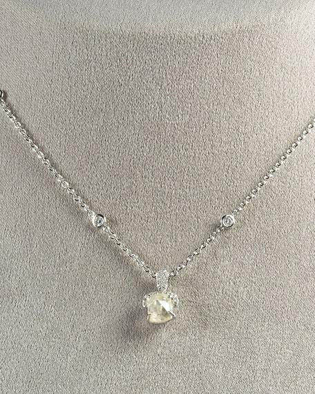 Diamond Pendant Necklace, White