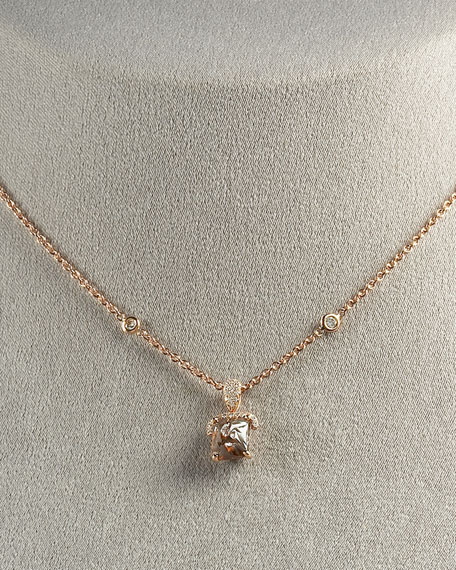 Diamond Pendant Necklace, Cognac