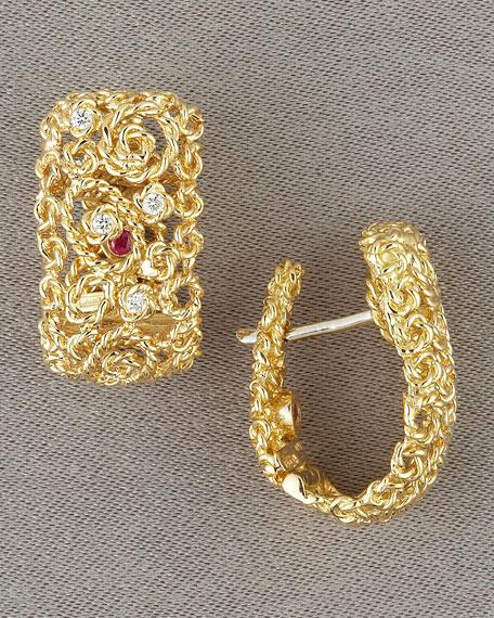 Mauresque Diamond-Detail Earrings