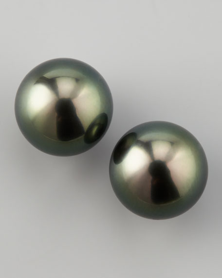 Black South Sea Studs