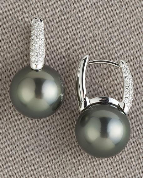 Black South Sea Earrings