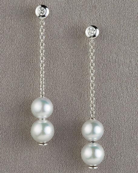 Pearls-in-Motion Earrings, White
