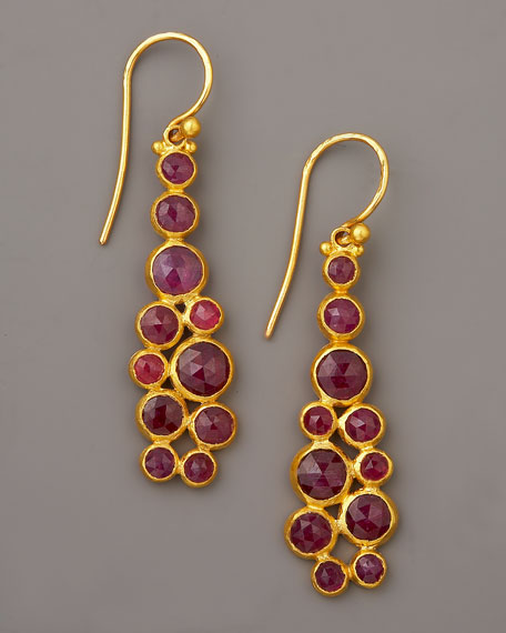 Ruby Wire Earrings