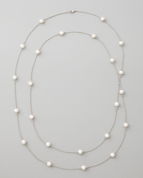 Akoya Pearl Necklace, White Gold