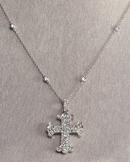 Diamond Cross & Chain Necklace,Small