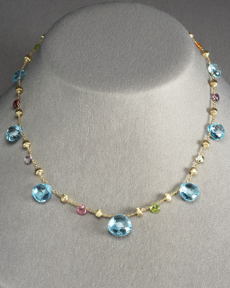 Large Blue Topaz Paradise Necklace