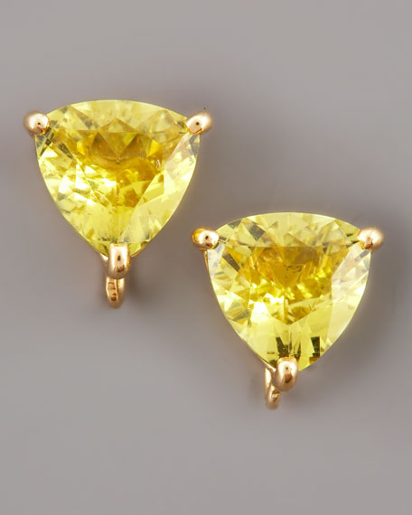 Canary Tourmaline Stud Earrings