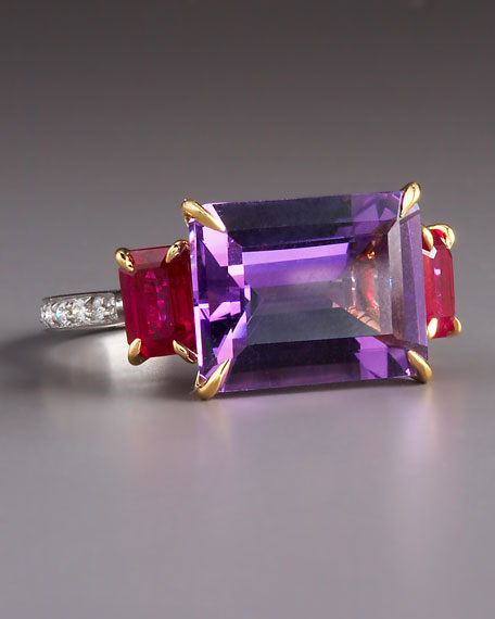 Amethyst Ruby Ring