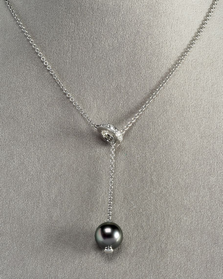 Black Pearls-In-Motion Necklace