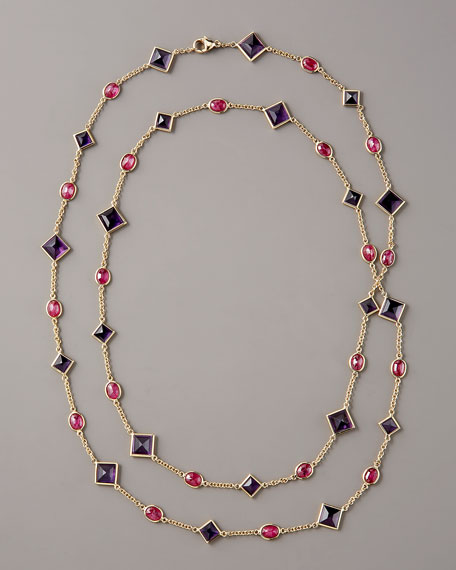 Amethyst & Ruby By-the-Yard  Necklace