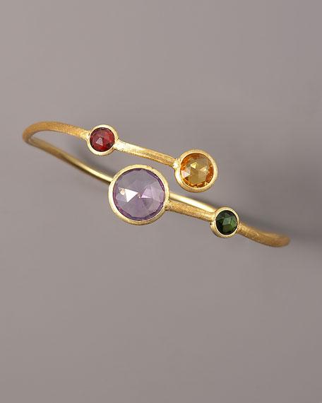 Mixed Stone Bangle Bracelet