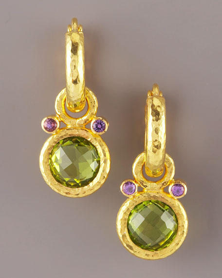 Peridot & Amethyst Earring Charms