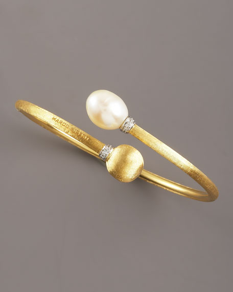 Africa Pearl & Gold-End Bracelet