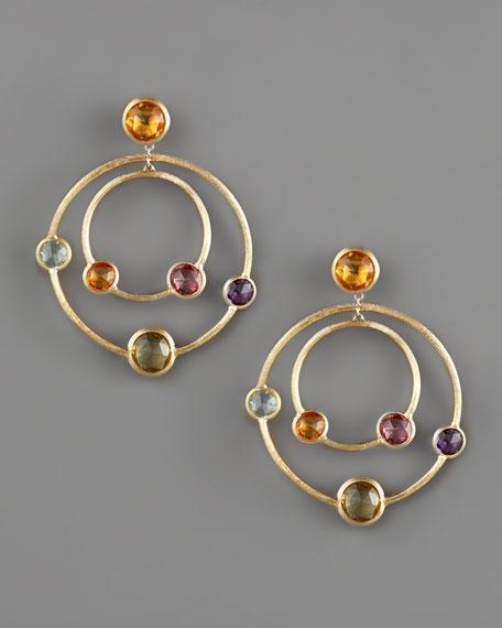 Jaipur Multi-Stone Hoop Earrings