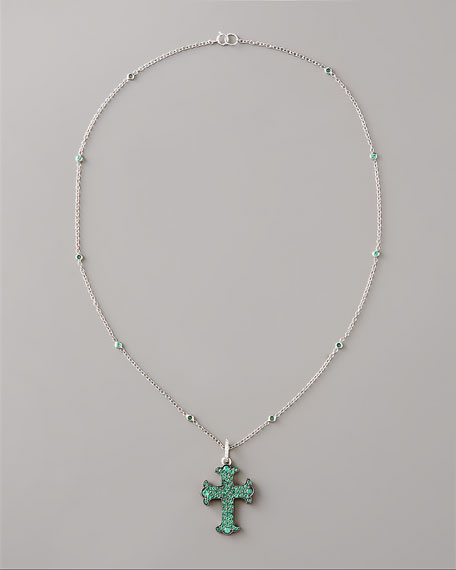 Emerald Cross Necklace