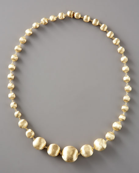 "Graduated Gold-Bead Necklace, 18""L"