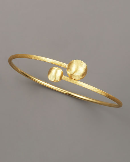Gold Bypass Bangle, Small