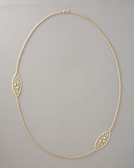 """Bollicine Diamond Station Necklace, 37""""L"""