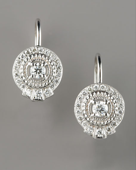 Pave Diamond Drop Earrings