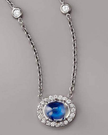 Pave Diamond & Moonstone Necklace