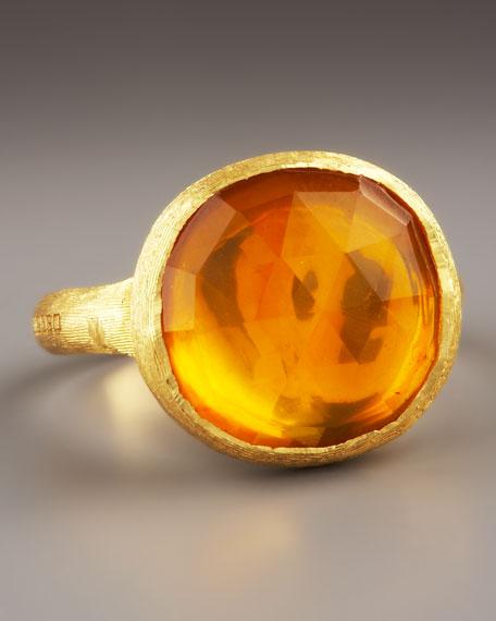 Jaipur Citrine Ring