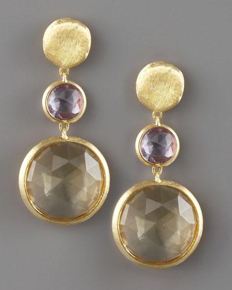 Jaipur Drop Earrings, Citrine