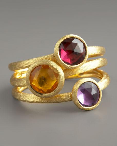Jaipur Three-Stone Ring, Citrine